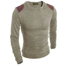2017 Round neck Sweaters Stylish Knitted Long Sleeve fight the skin Men Sweater Male Solid Bottoming Sweaters Pullover 3 Colors