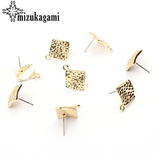 2018 New 19*16mm 10pcs/lot Zinc Alloy Gold Geometric Ripple Earring Base Connectors Linkers For DIY Earrings Jewelry Accessories