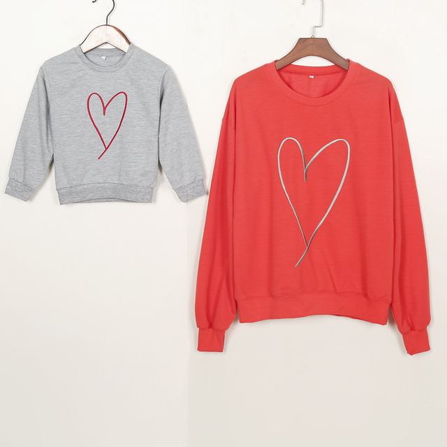 Valentine S Day Heart Family Clothes Women Mother Baby Boy Kid Long