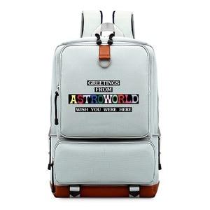 Image 3 - WISHOT   Travis Scotts ASTROWORLD  Backpack Shoulder travel School Bag Bookbag for teenagers men women  Casual Laptop Bags