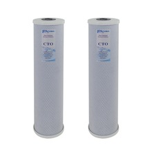 Pack of 2: High Capacity 4.5 x 20 Big Blue Whole House Replacement Filters CTO Carbon Block Cartridge- 5 Micron