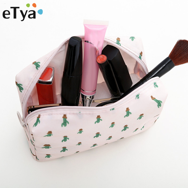 eTya Women Small Cosmetic Bag Portable Zipper Beauty Storage Makeup Bags  Travel Organizer Make Up Toiletry bef371b720