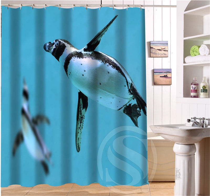 Free Shipping Emperor penguins Custom Shower Curtain MORE SIZE Waterproof Fabric Shower Curtain for Bathroom SQ0427-E93