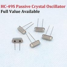 Oscilador de cristal pasivo, HC 49S, 16mhz/16.000/18.432/20/22, 10 unidades 1184/24.0/27.145/25/26/27/28/30/32/32.768/38/40/48/50/64/MHZ/M