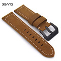Brown Original Matte Leather Watchbands, Classic 24mm /26mm Watchbands,For Panerai Strap Fast Delivery