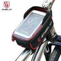 2017 Universal Waterproof Bike Phone Holder 6 Inch Screen Phone Bag Bicycle Frame Bag For SamsungS8