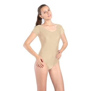 Image 4 - Feminino preto vermelho verde whit collant mangas curtas ballet dancewear lycra elastano collants bodysuit ginástica traje unitard