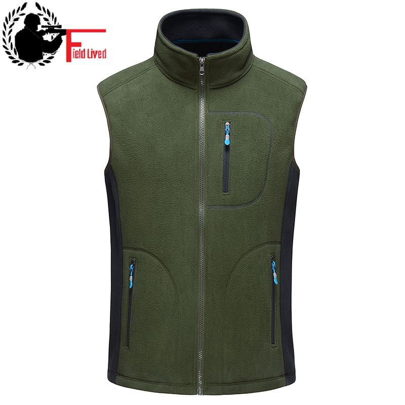 Winter Vest Men 100% Thicken Fleece Fashion Colete Waistcoat Male Gilet Sleeveless Jacket Bodywarmer Mens Stage Coat Clothing