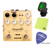 цена на NUX Stageman Floor Acoustic Preamp DI Digital Effects Looper Function Chorus Reverb Freeze Guitar Effect Pedal for Violin Parts
