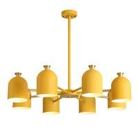 Nordic современный простой спальня люстра гладить творческая личность Macarons Ресторан 3/6/8 E27 держатель лампы Красочные Droplight