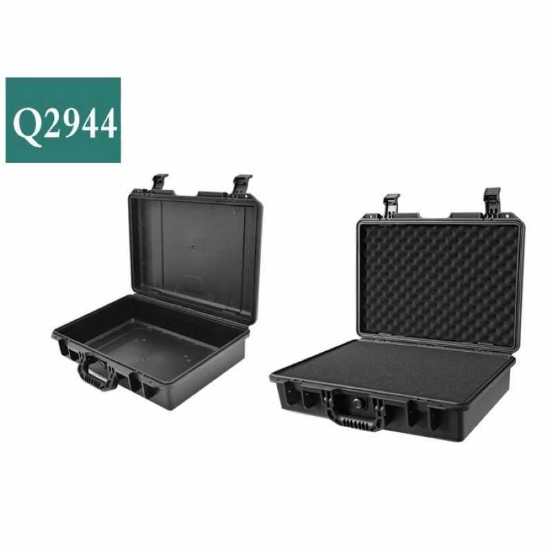 Kasus Alat Impact Resistant Safety Koper Toolbox File Kotak Peralatan Kamera dengan Memotong Lapisan Busa