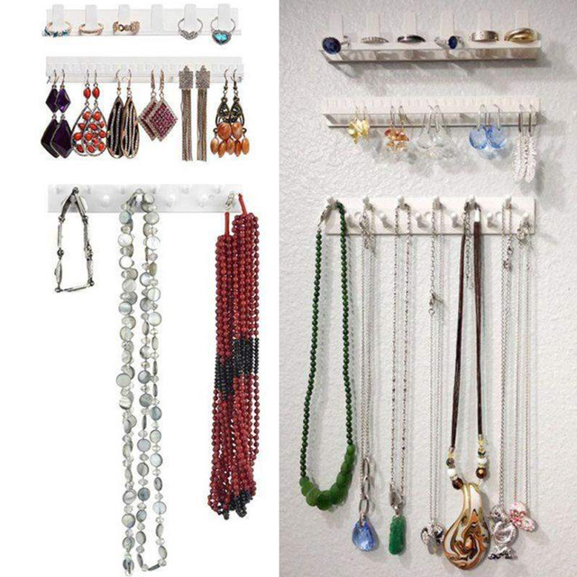 Adhesive Jewelry Display Hanging Earring Ring Hanger Holder 1