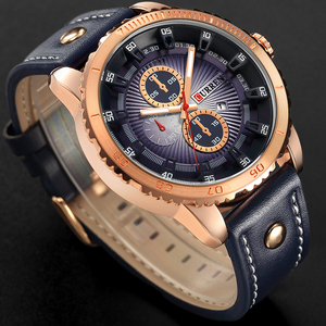 Image 5 - 2018 יוקרה חדשה מותג CURREN גברים של שעוני ספורט שעון יד עור קוורץ שעון צבא איש צבא Relogio Masculino