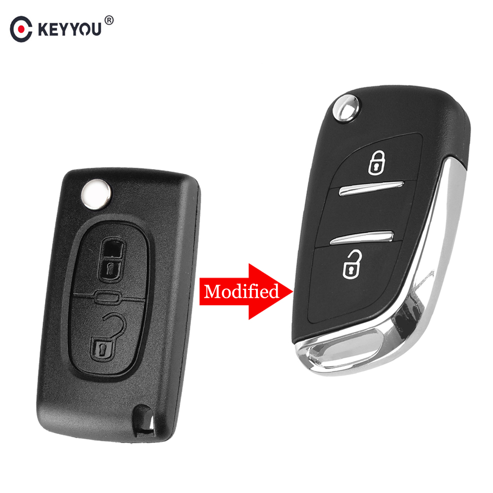KEYYOU 10 pcs/lot coque de clé de voiture modifiée à distance pour citroën C2 C3 C4 C5 C6 C8 VA2/HCA Ce0536 couvercle de clé automatique de remplacement