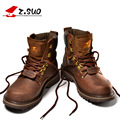 Z. Suo Men Boots Dr Martin Boots Fashion First Layer of Leather Men's Boots High-quality Tooling Boots Man Botas Hombre
