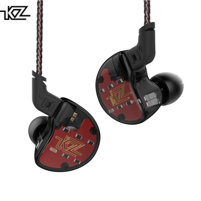 New KZ ZS10 4BA with 1 Dynamic Hybrid In Ear Earphone HIFI DJ Monito Running Sport Earphone Earplug Headset Upgraded