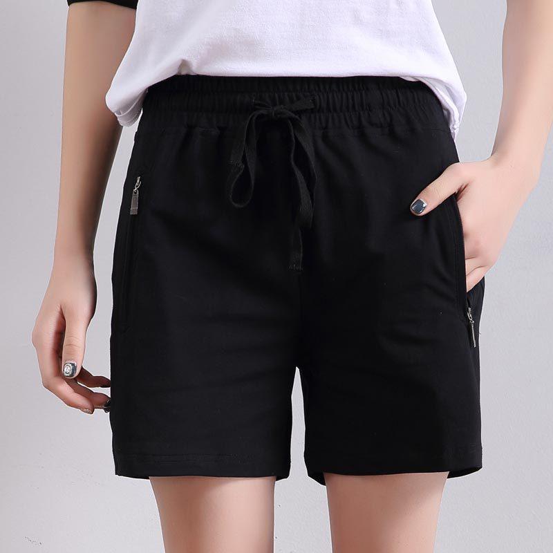 2019 New Summer Women Casual High Quality Shorts Fashion Ladies Cotton Shorts