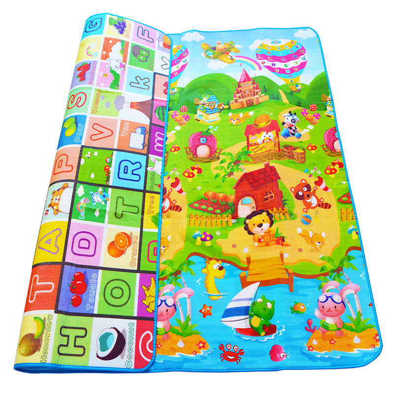 0.5cm Double-sided Baby Crawling Play Mat Children Puzzle Pad Kids Rug Gym Soft Floor Game Carpet Toy Eva Foam Developing Mats 120cm play mat baby blanket inflant game play mats carpet child toy climb mat indoor developing rug crawling rug carpet blanket