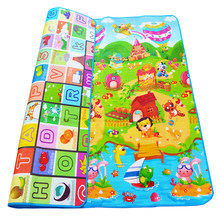 0.5cm Double-sided Baby Crawling Play Mat Children Puzzle Pad Kids Rug Gym Soft Floor Game Carpet Toy Eva Foam Developing Mats(China)