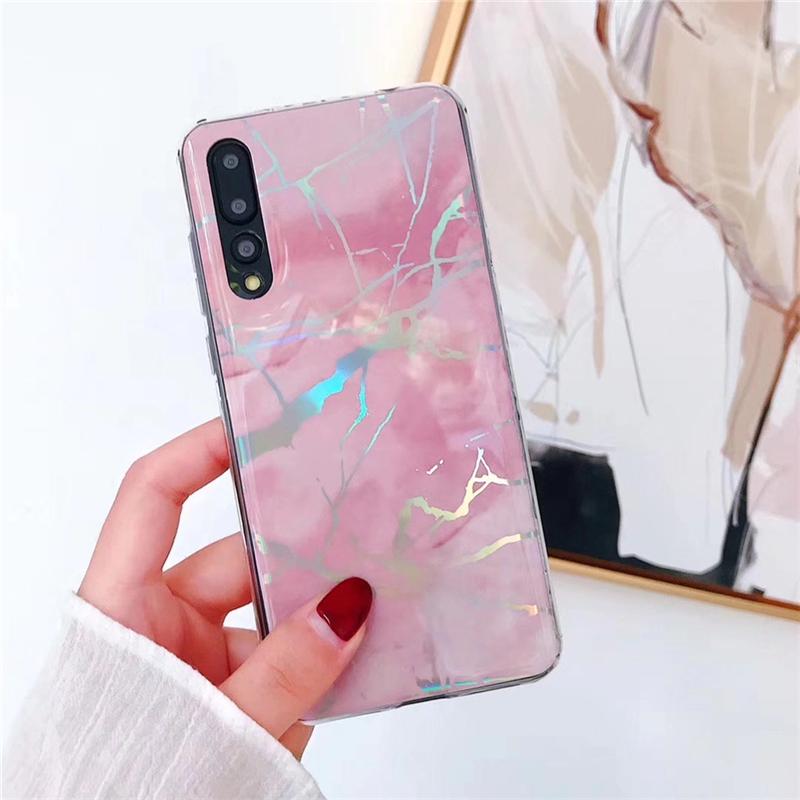 Phone Bags & Cases Learned Eleteil Marble Texture Case Colorful Phone Cases For Huawei P20 20 Pro P20 Lite Shockproof Tpu Silicone Back Cover E40