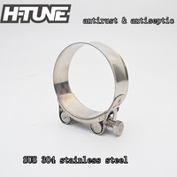 H TUNE 10pcs Stainless Steel 304 2 5 T Bolt Turbo Intake Intercooler Silicone Hose Clamp