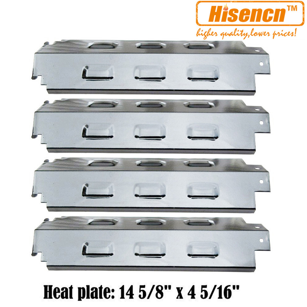 Hisencn BBQ Replacement Carryover Crossover Tubes, Pipe Burners, SS Heat Plate Shield For Charbroil 463420509 Gas Grill Models