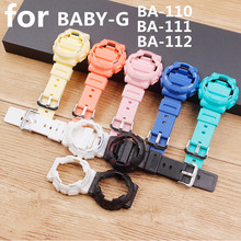 Watch Accessories Resin Strap Case for Casio BABY G BA 111 BA 110 BA 112 120 Waterproof Watch Strap Womens Strap