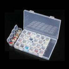 Box Beads-Accessories Container Nail-Tool Clear Storage-Case Rhinestone Empty Plastic