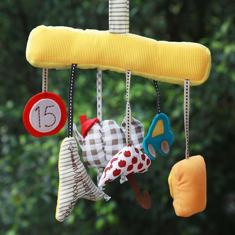 Дитяча ліжечка спіральна діяльність Висяча прикраса дитячого мобільного гриміти грати іграшки автомобіля сидіння коляски Xmas подарунки 20%