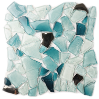 FREE style baroque design baby blue Clear glass mosaic tiles Bathroom shower floor kitchen backsplash Home wall tiles,LSWZ01