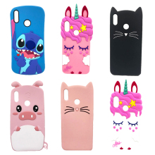 3D Lovely Cartoon Case For Huawei P30 Lite Cases Soft Silicone Unicorn Cat Bear Cute Back Cover Phone