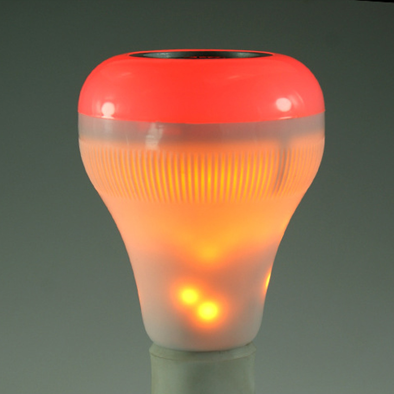 E27 LED Music Fire Light Bulb Bluetooth Speaker With Wireless Remote Control Home Decoration Lamp JA55