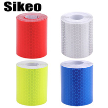 5cmx3m Safety Mark Reflective tape stickers car-styling Self Adhesive Warning Tape Automobiles Motorcycle Reflective Film 4color