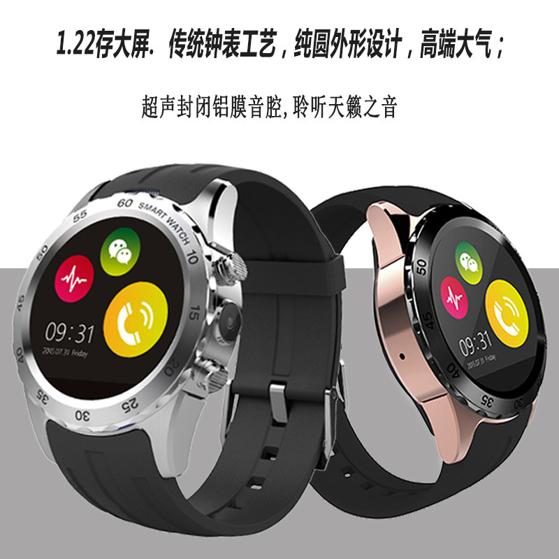 kw08 Smart Watch Clock With Sim Card Slot Push Message Bluetooth Connectivity Android Phone Better Than