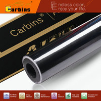 High Glossy Black 5D Carbon Fiber Vinyl Wrap Film 1 52 20m