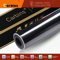 Carbins Film High Glossy Black 5D Carbon Fiber Vinyl Wrap Film Black 1.52*18m Custom Car Stickers
