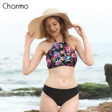 Женский купальник бикини с высокой горловиной charmo в стиле