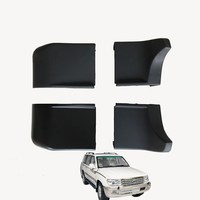 eOsuns Black plastic Foot Pedal Step Board Side Pedal protection cover Angle package 1pcs For Toyota Land Cruiser 4700 LC100