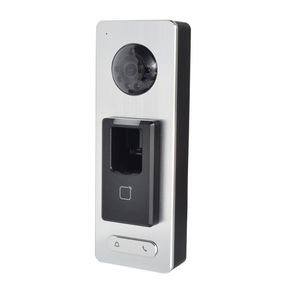 HIK Original DS K1T501SF Terminal Fingerprint access controller IP doorbell phone APP push P2P IP video