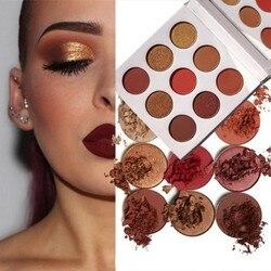 9 farben Lidschatten Palette Natürliche Schimmer Matte Lidschatten Pulver Marke Professionelle Augen Make-Up Pallete Maquiagem