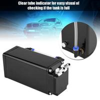 Engine Oil Catch Reservoir Breather Tank Can Kit Black Light weight Filtered Breather Tanks Square Style Billet Aluminum