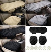 CATUO Quattro Stagioni 3 Pz/set Quadrato Comodo Morbido Cotone Auto Cuscino del Sedile Anteriore Sedile Posteriore Covers Auto Sedia Pad Mat