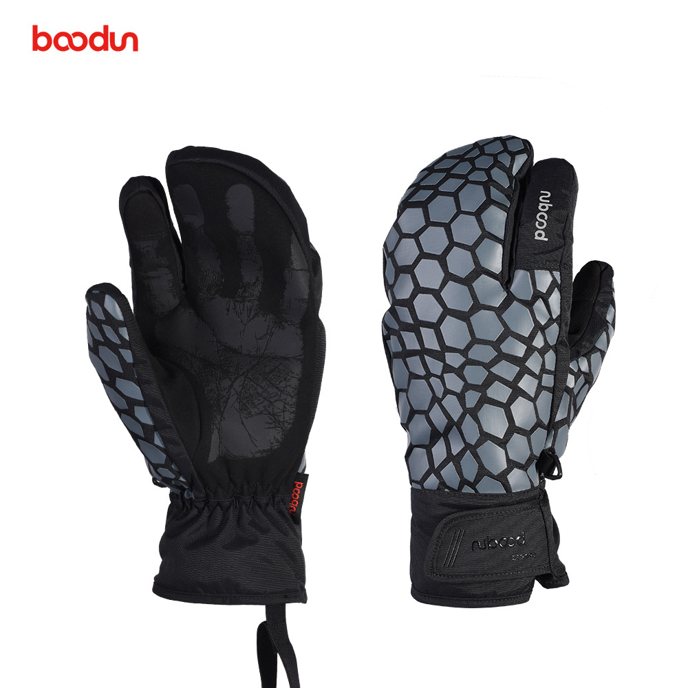 Boodun Ski Gloves Winter Snowboard Skiing Gloves Waterproof Windproof Touch Screen Outdoor Motorcycle Thermal Warm Gloves