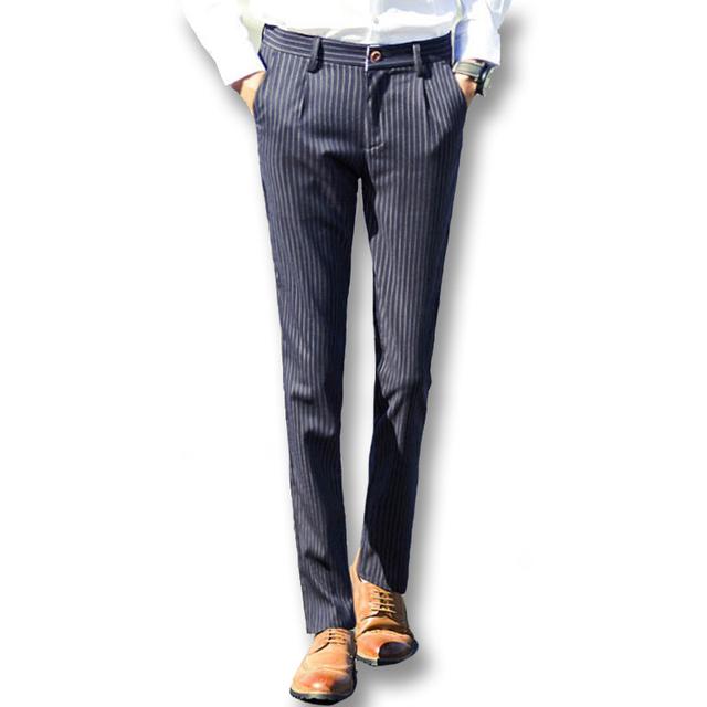 2016 Homens Calças e Calças dos homens Moda Casual Slim Fit Tamanho grande Homens de Negócios Ternos de Vestido de Comprimento Total Calças Despojado calças