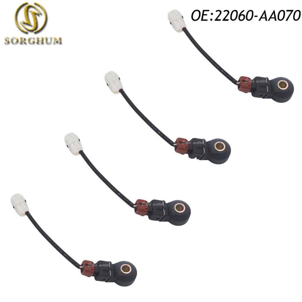 New 4pcs Knock Sensor 22060-AA070 KS98 213-1828 S8683 144-745 For <font><b>Subaru</b></font> Impreza Forester Legacy Outback 1999 2000 2001 2002 image