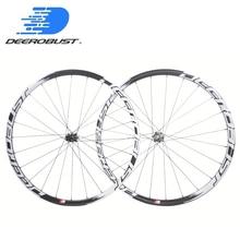 1263g Deercycles Lightest 700C 38mm Asymmetric Carbon Tubular Road Disc Brake Cyclocross Bicycle Wheels CX Bike Wheelset Novatec цена