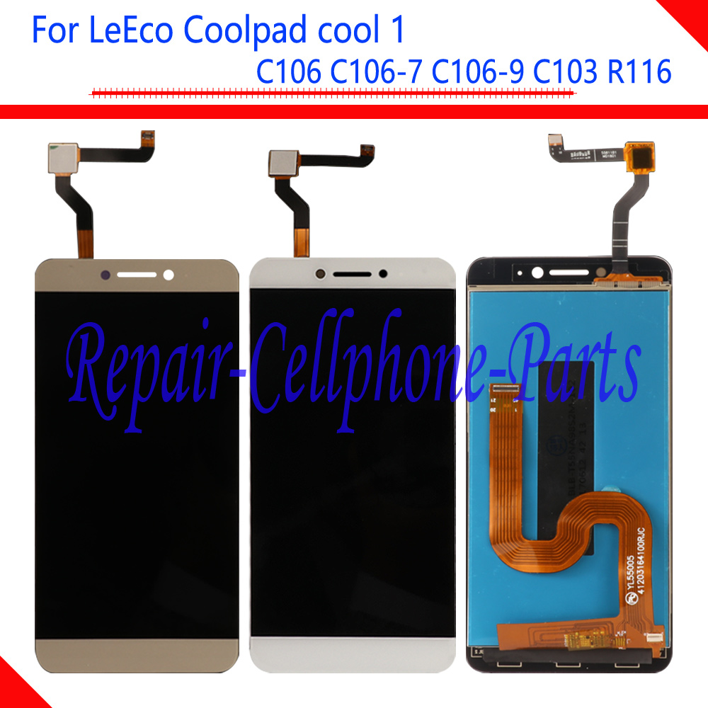 New Full LCD DIsplay + Touch Screen Digitizer Assembly For LeTV LeEco Coolpad Cool1 Cool 1 C106 C106-7 C106-9 C103 R116