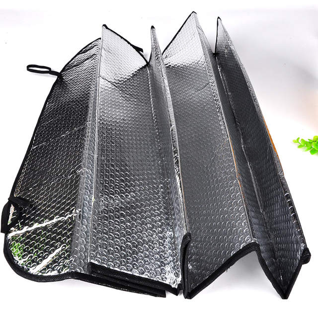Online Shop 2018 Universal Reflective Car Aluminum foil Windscreen Sunshade  Front Window Sun Shade Windshield Visor Cover UV Protect  754fdfcff0a