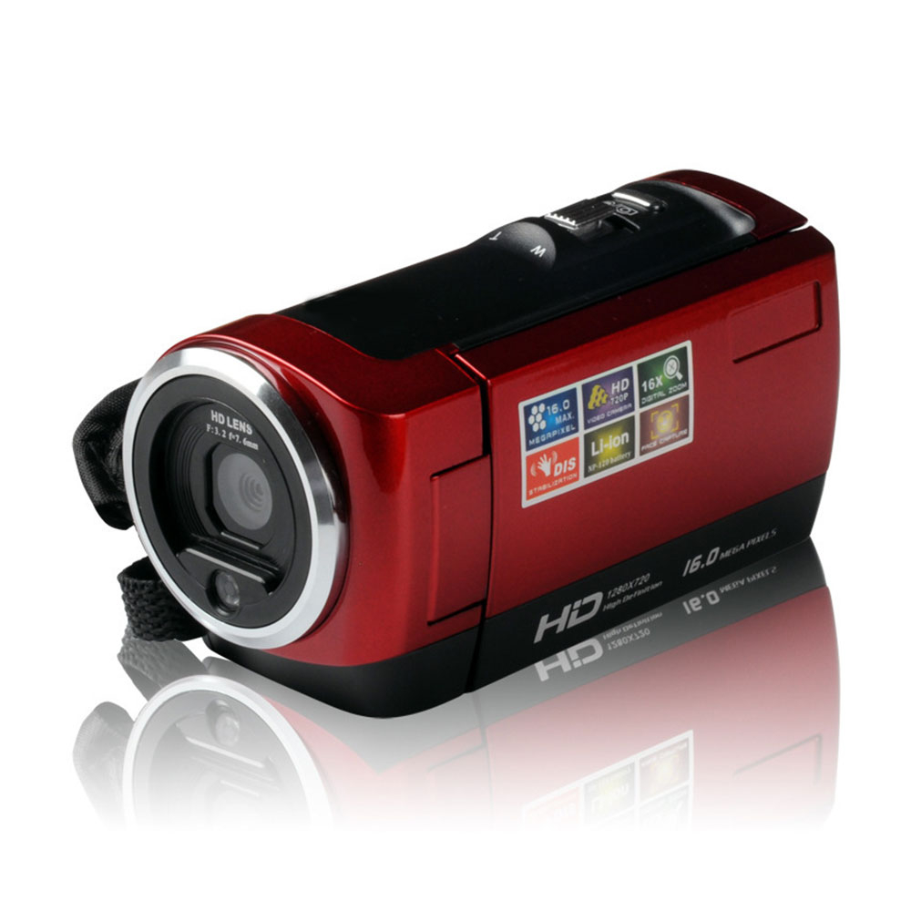 Gizcam 2.7 inch HD 720P 16X Digital Zoom 1.6MP Video Recoder Camera DV Camcorder Photography Support 32GB SD Card Cam Gift