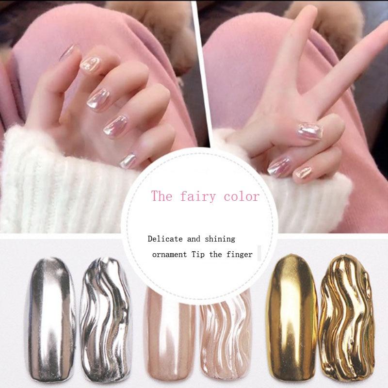 0.5g Super Shine Glitters Mirror Titanium Glitter Powder Metallic Color Nail Art UV Gel Polishing Decorations
